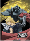 Fullmetal Alchemist Brotherhood: Ed & Al Moon Fabric Poster