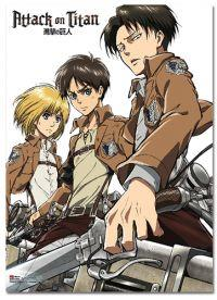 Attack on Titan: Eren, Levi & Armin Wall Scroll