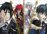 Black Butler: Sebastian, Ciel, Grell & Ash Wall Scroll