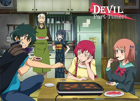The Devil is a Part-Timer: Group Yakiniku Wall Scroll