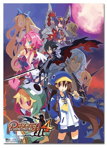 Disgaea 4: Key Art Wall Scroll