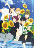 Free! 2: Group with Sunflowers Wall Scroll