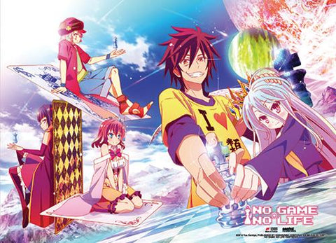 No Game No Life: Group Chess Wall Scroll
