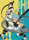 Soul Eater: Black Star & Tsubaki Battle Ready Wall Scroll