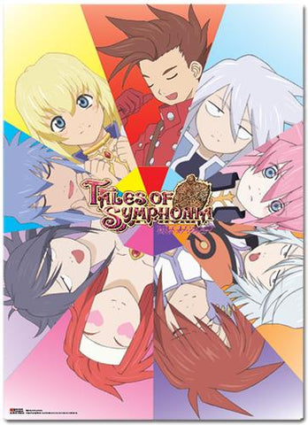 Tales of Symphonia: Character Faces Wall Scroll