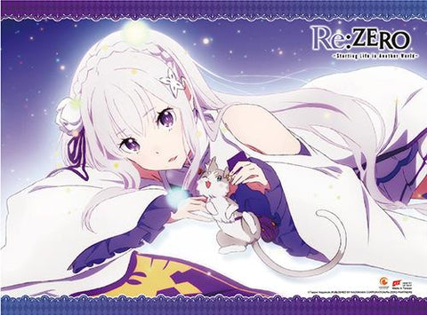 Re:Zero: Emilia & Pack Wall Scroll