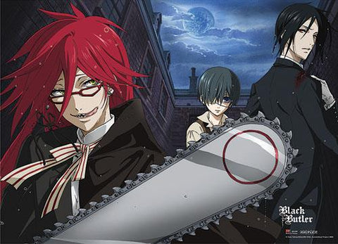 Black Butler: Grell Chainsaw Wall Scroll