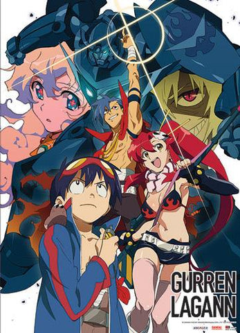 Gurren Lagann: Key Art Wall Scroll