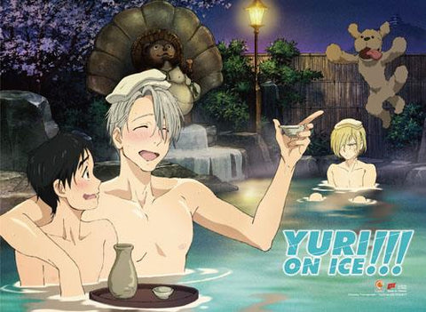 Yuri!!! on Ice: Group Onsen Wall Scroll