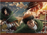 Attack on Titan 2: Eren Titan, Mikasa, Levi Wall Scroll