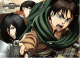 Attack on Titan 2: Eren, Mikasa & Levi Wall Scroll