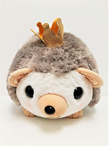 "Amuse: Grey Hedgehog with Crown 16.5"" Plush"