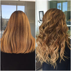 Instant ombré hair color without having to color your hair with Sasa Tresses
