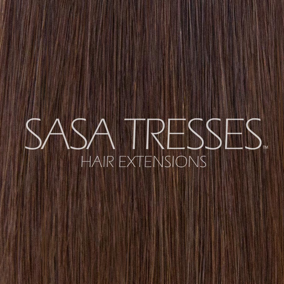 #4 True Brunette Clip In Hair Extensions - SASA TRESSES HAIR EXTENSIONS
