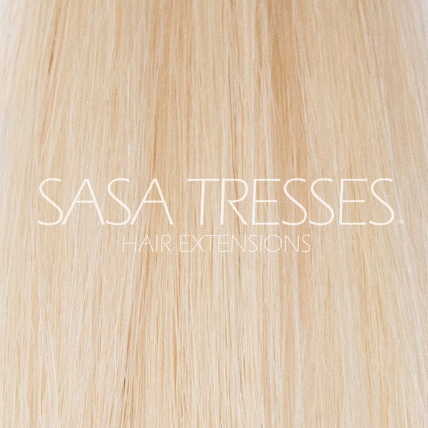 #60 Platinum Ice Clip In Hair Extensions - SASA TRESSES HAIR EXTENSIONS