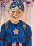 Portrait Captain America Painting