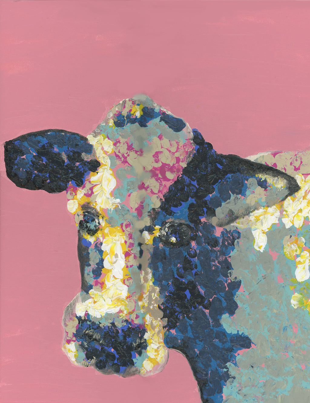 colorful farm cow