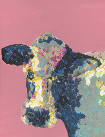 "8x10 Fine Art Print, Rustic Farmhouse Print, ""Cow"""