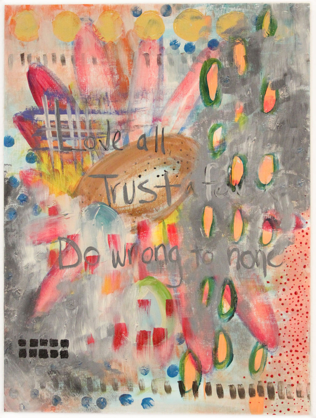abstract painting with Shakespeare's word