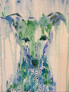 Drippy Dog, Original on Canvas