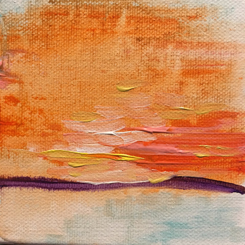 Sunset Snap I 4x4 Acrylic on Canvas