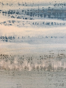 water and land abstract painting