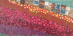 The Flower Fields Original 10x20 Acrylic on Canvas
