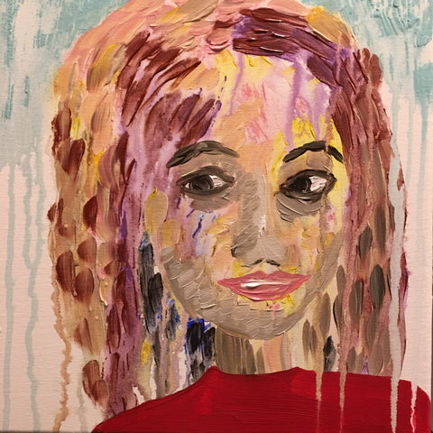 "Meet, Unsocial Susan."" 12x12 Acrylic on Canvas."