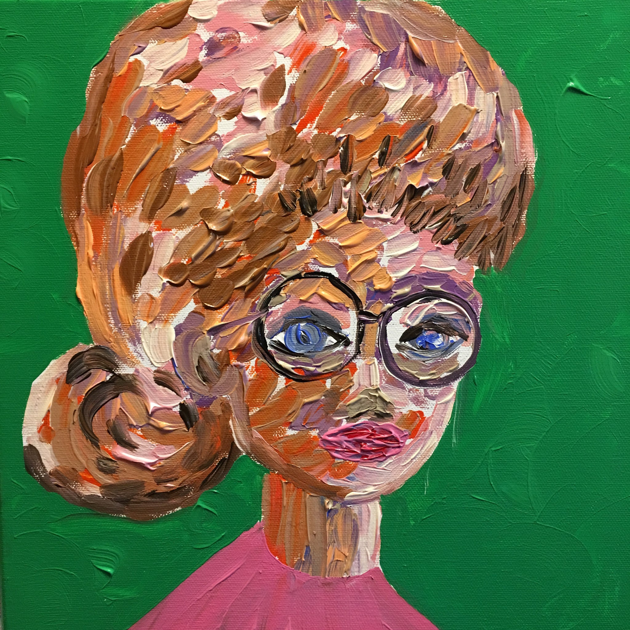"Meet ""No Excuses Noreen,"" 12 x 12 Acrylic on Canvas"