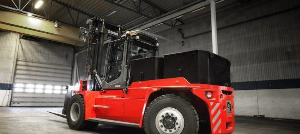 Kalmar unveils fully electric medium-range forklift