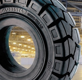 GRI unveils wider solid tire for forklifts