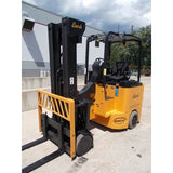 2010 BENDI B40/48E-180D 4000 LB CAPACITY LP GAS FORKLIFT CUSHION 87/198 TRIPLE STAGE MAST TURRET STOCK # BF9320989-RILB