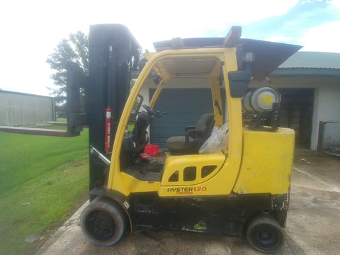 "2007 HYSTER S120FTS-PRS 12000 LB LP GAS FORKLIFT CUSHION 99/208"" 3 STAGE MAST 6300 HOURS STOCK # BF9119329-METX"
