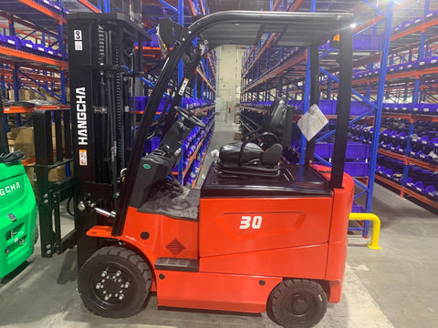 2020 HANGCHA CPD30-XD2-C 6000 LB FORKLIFT ELECTRIC 4 WHEEL CUSHION 83/185 3 STAGE MAST SIDE SHIFTER STOCK # BF929589-BUF - United Lift Used & New Forklift Telehandler Scissor Lift Boomlift