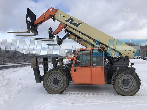 2012 JLG G10-43A 10000 LB DIESEL TELESCOPIC FORKLIFT TELEHANDLER PNEUMATIC 4WD ENCLOSED CAB 2168 HOURS STOCK # BF9594379-ISNY