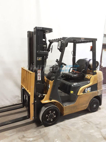 "2011 CATERPILLAR 2C5000 5000 LB LP GAS FORKLIFT CUSHION 88/188"" 3 STAGE MAST SIDE SHIFTER 13079 HOURS STOCK # BF9223459-NCB"