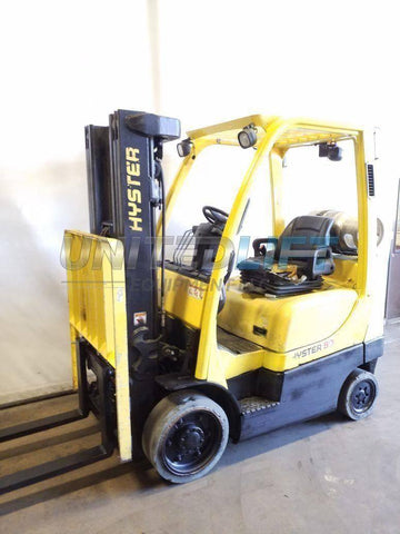 "2016 HYSTER S60FT 6000 LB LP GAS FORKLIFT CUSHION 81/189"" 3 STAGE MAST SIDE SHIFTER 11329 HOURS STOCK # BF9221419-NCB"
