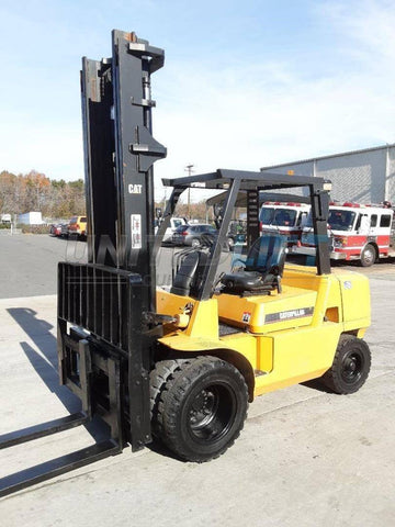 2002 CATERPILLAR DP40K 8000 LB DIESEL FORKLIFT PNEUMATIC 120/174 2 STAGE MAST SIDE SHIFTER 5840 HOURS STOCK # BF9224089-NCB