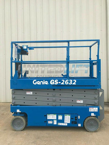 2005 GENIE GS2632 SCISSOR LIFT 26' REACH ELECTRIC SMOOTH CUSHION TIRES 232 HOURS STOCK # 8968-149702-ARB