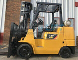"2009 CATERPILLAR GC40KS 8000 LB LP GAS FORKLIFT CUSHION 189"" 3 STAGE MAST SIDE SHIFTER 3528 HOURS STOCK # BF9316439-MWWI - United Lift Used & New Forklift Telehandler Scissor Lift Boomlift"