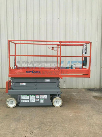 2011 SKYJACK SJIII3219 SCISSOR LIFT 19' REACH ELECTRIC CUSHION TIRES 473 HOURS STOCK # 6587-149187-ARB