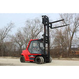 2002 LINDE H80D 17500 LB DIESEL FORKLIFT PNEUMATIC 130/162 2 STAGE MAST ENCLOSED CAB STOCK # BF410879-RIL2 - united-lift-equipment