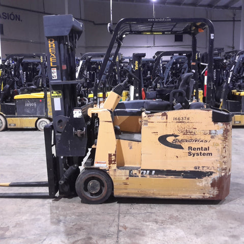 2011 DREXEL SLT30AC 3000 LB 36 VOLT ELECTRIC FORKLIFT CUSHION 88/205 3 STAGE UNIQUE SWING MAST STOCK # BF9249989-399-BUF