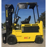 2010 HYSTER E80Z 8000 LB 48 VOLT ELECTRIC FORKLIFT CUSHION 92/195 3 STAGE MAST SIDE SHIFTER 2192 HOURS STOCK # BF9115879-INB - United Lift Used & New Forklift Telehandler Scissor Lift Boomlift