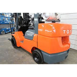 2005 TOYOTA 7FGCU45 10000 LB LP GAS FORKLIFT CUSHION 92/187 3 STAGE MAST SIDE SHIFTER 8215 HOURS STOCK # BF98757-DPA