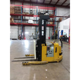 "2011 YALE MRW030 3000 LB ELECTRIC FORKLIFT WALKIE REACH STACKER CUSHION 3 STAGE 83/179"" MAST STOCK # BF9126489-BUF"