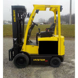 2015 HYSTER E50XN-27 5000 LB ELECTRIC CUSHION 93/264 QUAD MAST SIDE SHIFTER 3226 HOURS STOCK # BF9152539-INB