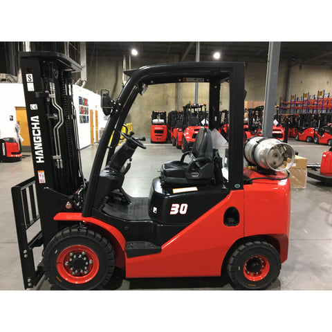 2019 HANGCHA CPYD30-XW71F 6000 LB FORKLIFT LP GAS PNEUMATIC 91/185 3 STAGE MAST SIDE SHIFTER STOCK # BF9199139-299-BUF