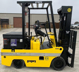 "2003 GREGORY RSC4EX 4000 LB 36 VOLT ELECTRIC FORKLIFT CUSHION 82/127"" 2 STAGE MAST EXPLOSION PROOF  STOCK # BF9255259-INB"