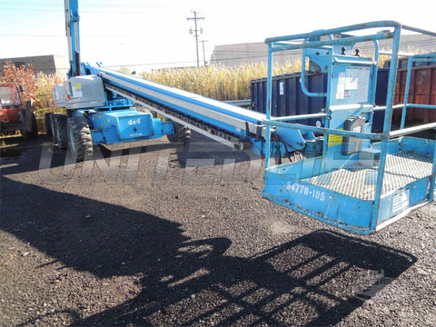 2006 GENIE S80 TELESCOPIC BOOM LIFT STRAIGHT AERIAL LIFT 80' REACH DIESEL 4WD 2635 HOURS STOCK # BF9649769-DBUF